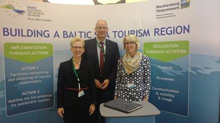 Policy Area Tourism Coordinator Team (from left to right): Dr. Anja Gelzer, Gerd Lange (PAC), Andrea Krabbe